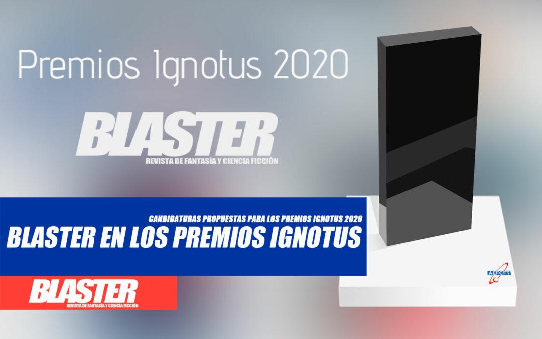 Candidaturas de la revista Blaster a los Premios Ignotus 2020